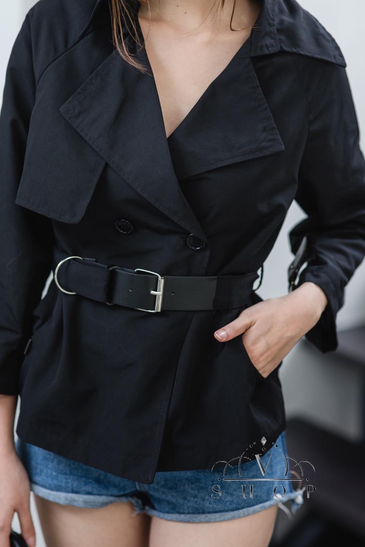 แจ็คเก็ตคอปกใส่เป็นเสื้อคลุมหรือเสื้อก็ได้